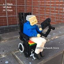 MOC DIY Set 133pcs Stephen Hawking Mini Figures Minifigs Creative Collection Bricklink Model Building Blocks Toys for Kid Gift