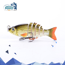 Купить с кэшбэком 1PCS Fishing Lure Multi Jointed Hard Bait 5cm 2.5g Lifelike joint bait Wobblers 6 Segments Swimbait lure hard Crankbait fish