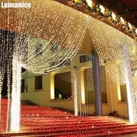 Long 6M*3M 600 LED Christmas Garland Curtain Icicle String Lights 220V 110V Indoor Drop Party Garden Stage Outdoor Decorative