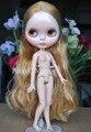 Jointed doll, Обнаженная блайт кукла с шарнирные тела, золотые прямые волосы, для девушки Подарок, день святого валентина подарок, Рождественский подарок