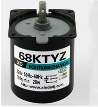 30pcs/lot 68KTYZ AC motor 220V 2.5rpm  110rpm motor micro slow speed machine 28W permanent magnet synchronous motor small motor
