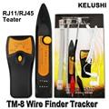 KELUSHI RJ11 RJ45 Cat5 Cat6 Ethernet LAN Rede de Cabo Rastreador Fio Toner Tracer Telefone Linha Tester Detector Finder TM8
