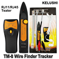 KELUSHI RJ11 RJ45 Cat5 Cat6 Telephone Wire Tracker Tracer Toner Ethernet LAN Network Cable Tester Detector Line Finder TM8