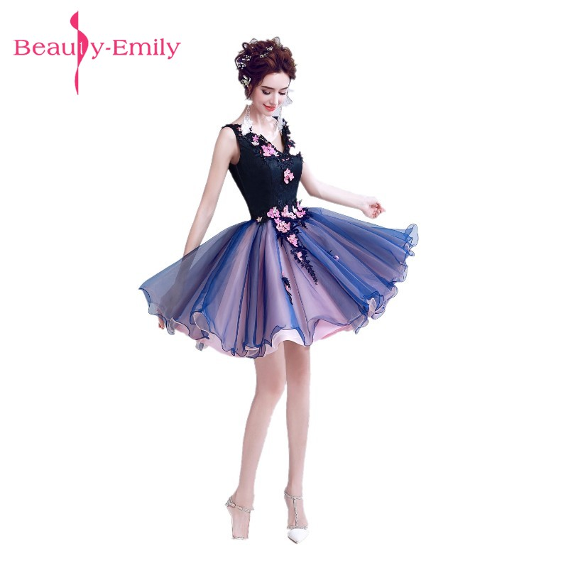 Beauty Emily Blue Pearls Wedding Party   Prom     Dresses   2017 Girl and Women A-Line Beading Lace Organza Formal Occasion   Dresses