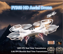 5.8G FPV monitor/WIFI FPV Remote Control RC drone FY560 2.4G tanpa kepala satu kunci kembali 2.0MP kamera RC Helicopter Quadcopter UFO