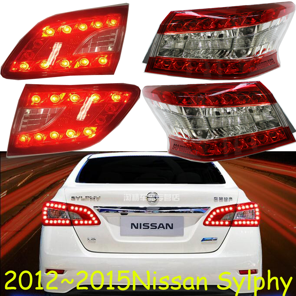 Sylphy taillight,2012~2015,Free ship!4pcs/set,Sylphy rear light,Red color,Sylphy headlight;Bluebird,Sunny,Teana