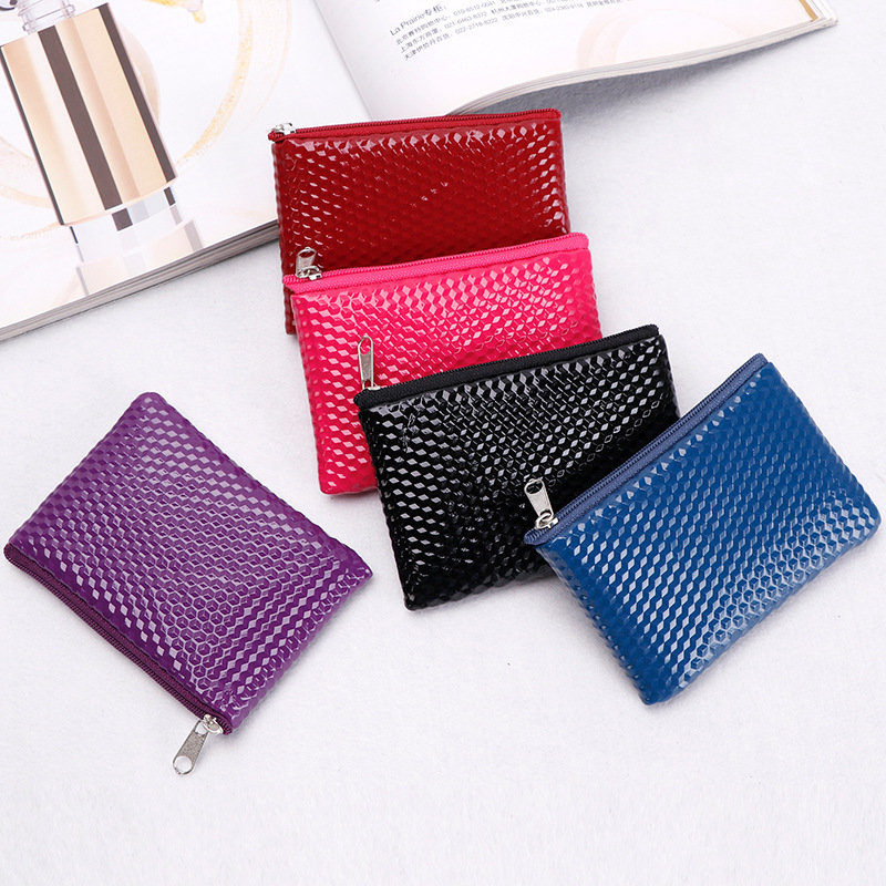 Coloffice Pure Color Women Fashion Change Card Holder Coin Bag Key Holder Bus Card ID Card Holders Office School Supplies 1PC