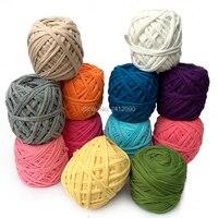 200g Pcs New Fancy Yarns Hand Knitting Thick Crochet Thread Candy Color Cloth Yarn Ribbon Hand