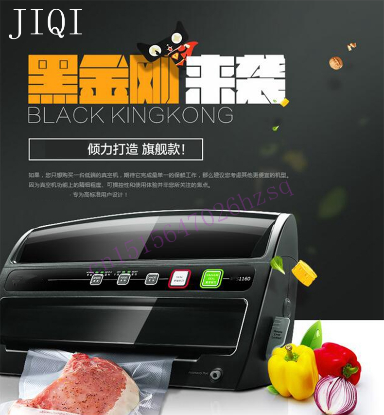 JIQI Electric Vacuum Food Sealer Sealing Machine Packing Sealers Food Saver Preserver Food vacuum packaging machine 200w 220v 220v full automatic electric vacuum sealing machine dry and wet vacuum packaging machine vacuum food sealers