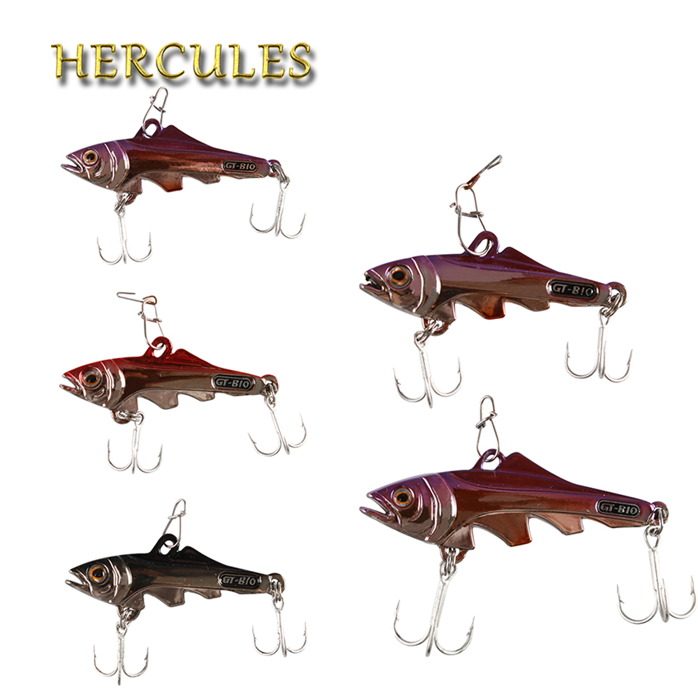 Hercules 5pcs Fishing Lure Artificial Bait VIB 3D Eyes Casting&Trolling Hook Tackle Fishing Accessories Carp Pesca Metal Lure