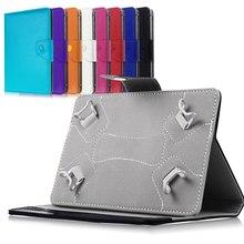 """10 """"10.1"""" caso de cuero del soporte de la cubierta para universal android tablet pad pc tablet de 10 pulgadas caso universal para ipad m2c43d"""