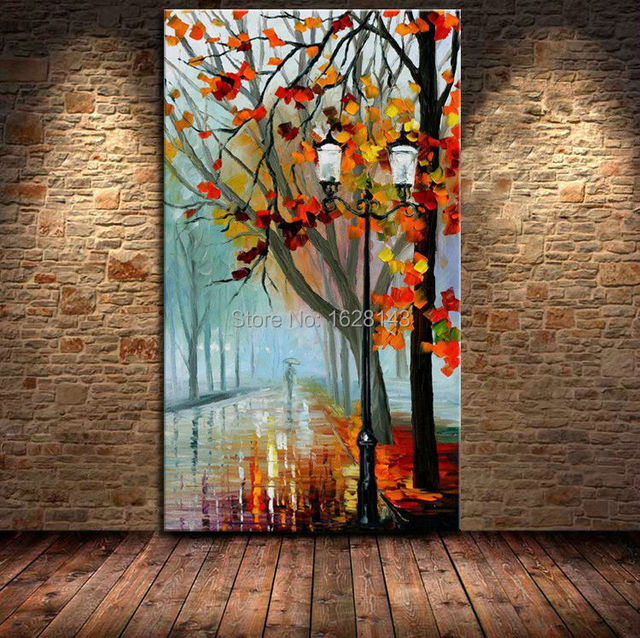 Big Size Modern Abstract Canvas Art Oil Painting Landscape Knife Oil