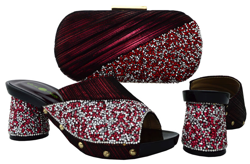 ФОТО African shoes and bags set for 5 colors Italy shoe and bag set Italian design Italian shoe with matching bag BCH-13 wine color.