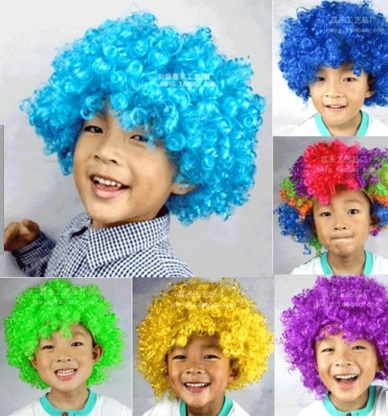 halloween party afro perruque color de nol cosplay poils de clown drle perruque synthtique nouvelle couleurs - Perruque Colore