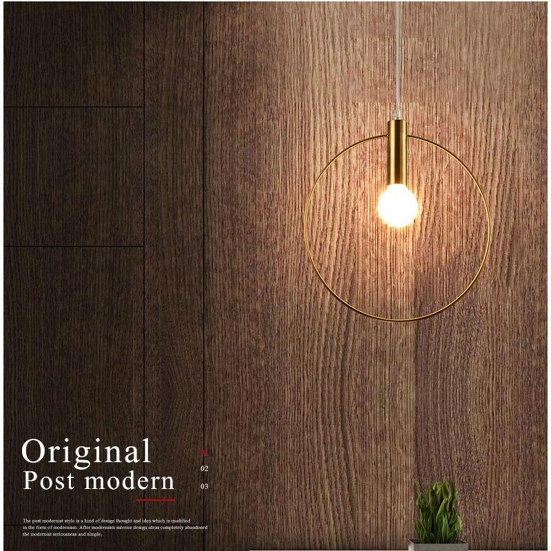 Modern Pendant Light Pendant Lamp single ring hanglamp Arts Decoration lighting For Lobby Dining Room suspension E14 lights