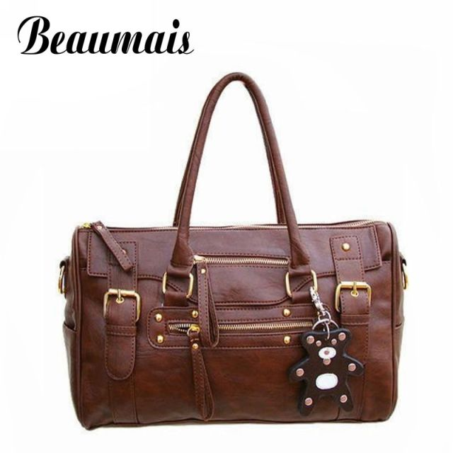 Beaumais Hot!!!Female bags 2015 women's handbag vintage belt bear female shoulder bag messenger bag casual bag JA003