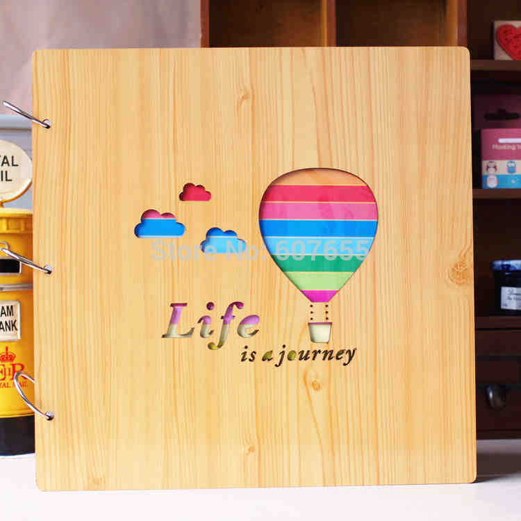 16 Inch Diy Wooden Photo Album Scrapbooking Children Family Baby