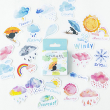 Watercolor Good Or Bad Weather Stickers Set Decorative Stationery Scrapbooking DIY Diary Album Label