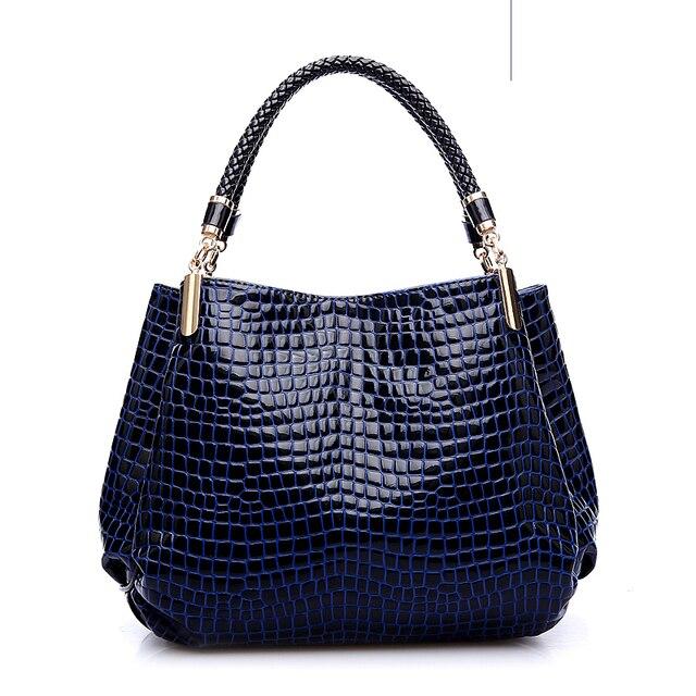 Alligator Leather Shoulder Handbag For Women