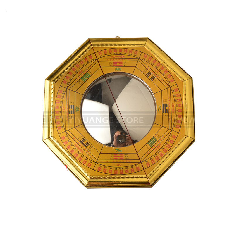 Chinese Feng Shui Dent Convex Bagua Mirror Lucky Blessing House Protection CF