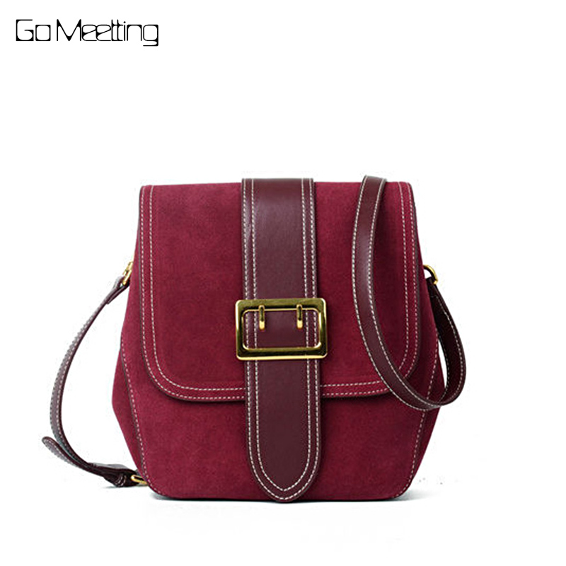 Go Meetting Grind arenaceous cowhide Women Shoulder Bag Brand Designer Split Leather handbags Skin Crossbody bag ladies totes женские часы go girl only go 694923