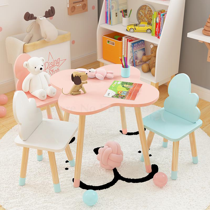 Chairs Table Kindergarten Small Children's And Ins Writing-Toy Cloud Cartoon