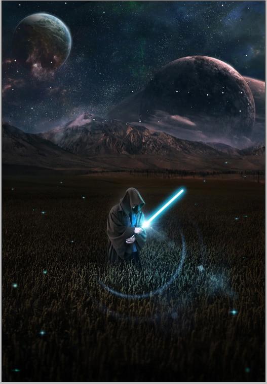 Goed 5x7ft Star Wars Force Wekt Planeet Mountain Ruimte Kylo Ren Custom Fotografie Studio Achtergrond Vinyl 150 Cm X 220 Cm 100% Hoogwaardige Materialen