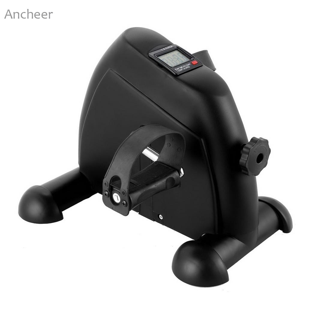 ANCHEER Integrated Fitness Equipments Mini Pedal Exerciser Bike Fitness Exercise Cycle Leg Arm with LCD Display ns wonder arm forearm wrist exerciser