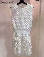 High Quality Luxury Bodycon Dress Women Knitted Dress Brand Runway Women Dresses