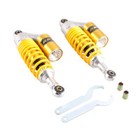 Motorcycle 11 280mm A Pair Rear Adjustable Air Shock Absorbers Eye To Eye 50 110cc Yellow