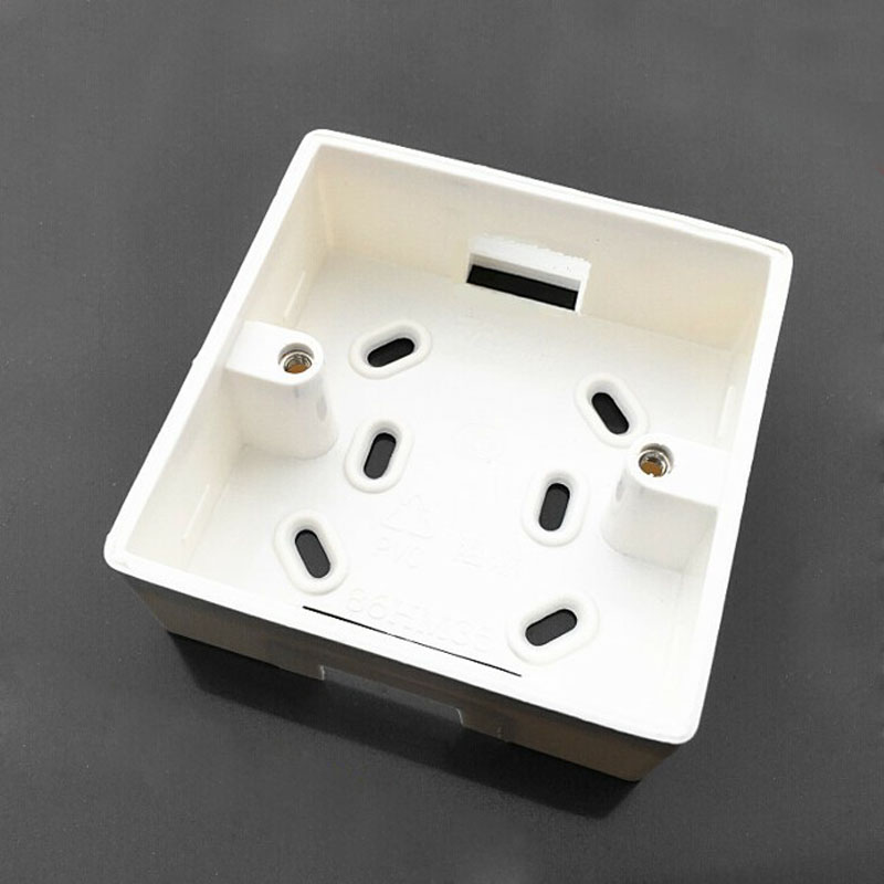 5pcs 86 Flame Retardant Boxes PVC Wiring Bottom Box Universal Junction For 86 Switch Socket Box Outlet
