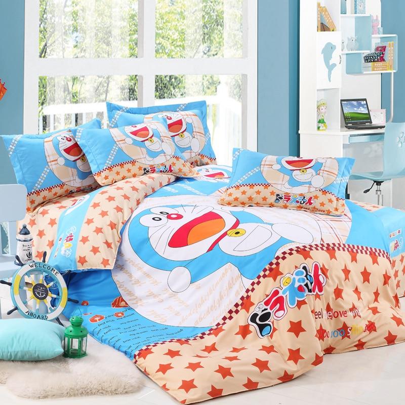2015 Hot Sale 100% Cotton Yellow Duck/Doraemon Kids Bedding Set Bed Linen  Cartoon Bed Set King/Queen/Twin Comforter Bedding  In Bedding Sets From  Home ...