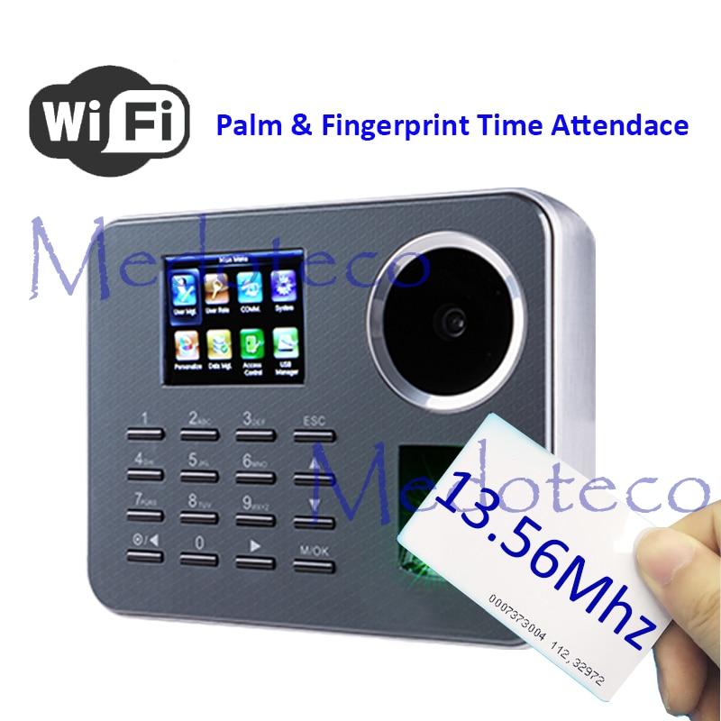 Iclock360 WIFI Biometric Palm Time Attendance BioID Fingerprint Time Recording 13.56mhz IC Card Electronic Attendance Machine
