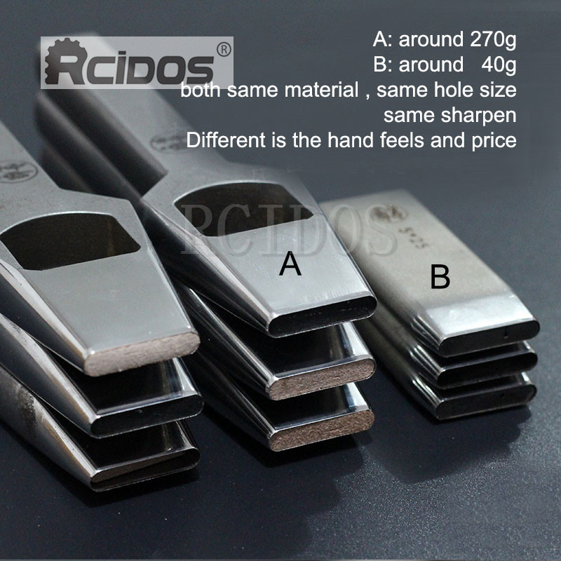 4x6/5x8/5x25mm A type Manual DIY leather Belt flat hole punch die,RCIDOS leather bag hole cutter,Japan DC53 Steel,1pcs price
