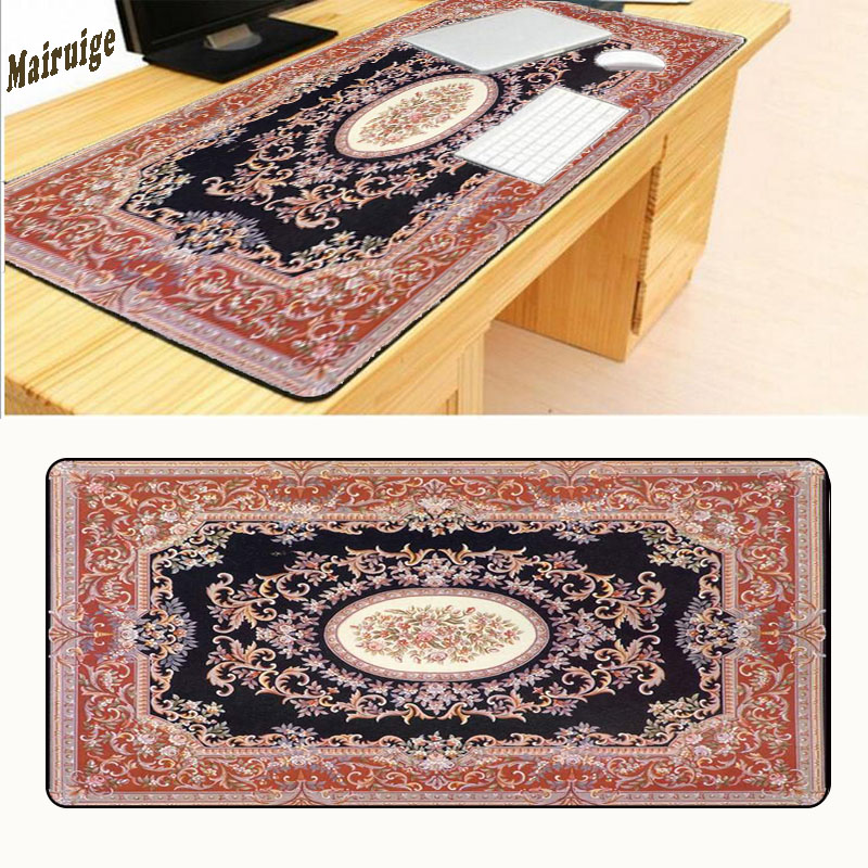 100% Quality Mairuige Red Persian Carpet Larger Lock Edge Mouse Pad Gaming Mouse Mat Laptop Keyboard Mat Xl900*400mm For Lol As Gift