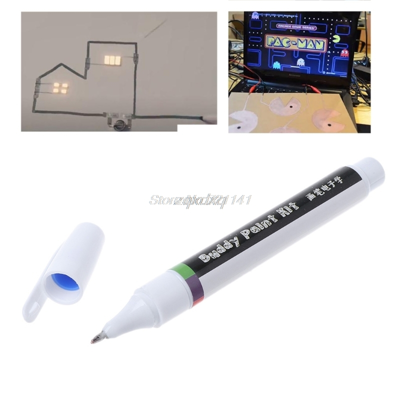 Conductive Ink Pen Electronic Circuit Draw Instantly Magical Pen Circuit DIY Maker Student Kids Education Oct30 Drop ship