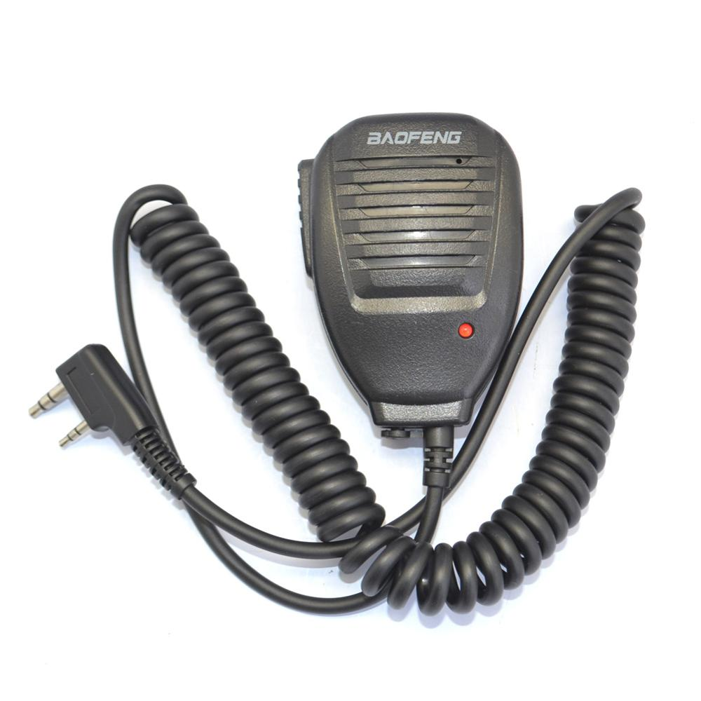 Baofeng uv-5r portátil ptt handheld alto-falante rádio em dois sentidos microfone para caminhada talkie para baofeng uv 5r 5ra 5r mais