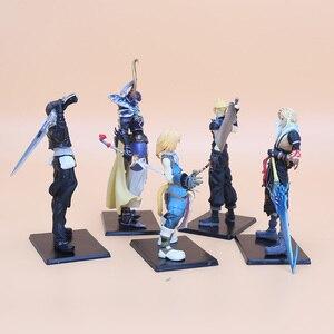 Image 3 - 5pcs/set 11 18cm Final Fantasy PVC Figures Collectible Model Toys Cloud Strife Squall Leonhart Tidus Warrior of Light Zack Fair