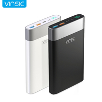 Vinsic 20000mAh Power Bank Quick Charge 3.0 Two way Quick Charge Type C Dual USB Battery Charger for iPhone X 8 8 Plus Xiaomi