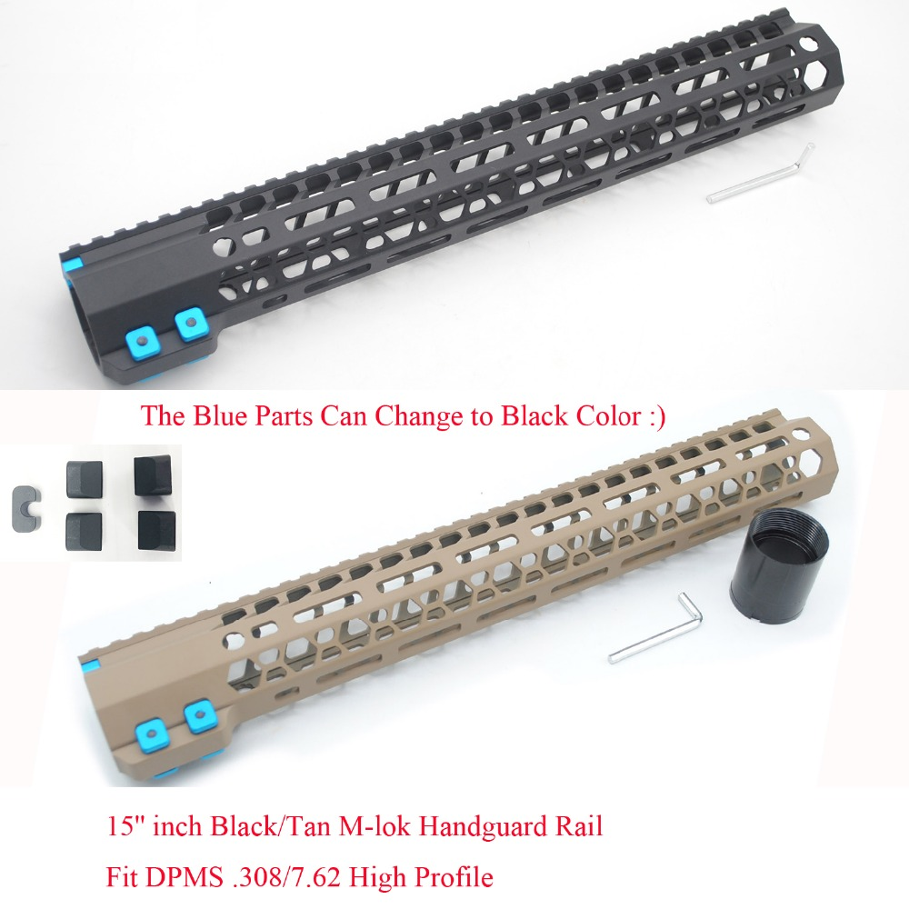 TriRock 15 inch M lok Handguard Rail fit LR 308 High Profile 308 7 62 Hand