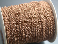 330 feet 2mm Rose Gold Rolo Chains,Rose Gold Chain,1 roll Rose Gold Rolo Chains,100 meters