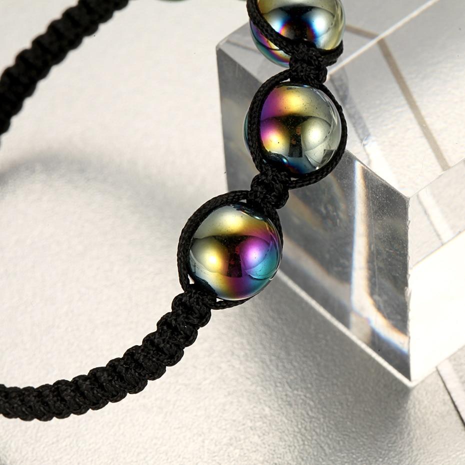 Купить с кэшбэком Hot Fashion Rainbow Men Women Beaded Bracelets Rope Hand Chain Trendy for Party Gift Hand Chain
