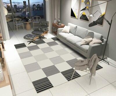 200 cm * 300 cm grands tapis pour salon Kilim tapis en fausse fourrure chambre d'enfants longs tapis en peluche pour chambre tapis Shaggy blanc