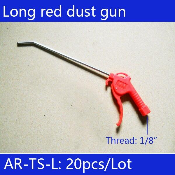 Livraison gratuite 20 pièces AR-TS-L Air duster pistolet à poussière coup nettoyage propre pratique outil air duster rouge longue section en plastique