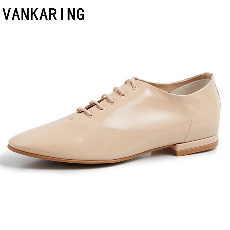 plus size spring summer women oxfords shoes casual women flats brand shoes genuine leather lace up