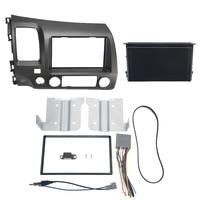 1 Set Car Radio Stereo 2 Din Taupe Dash Kit Multimedia Video Player Navigation GPS Frame Fascias For Honda Civic 2006 2011