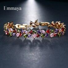Emmaya, свадебные браслеты, классическое очарование, блестящий AAA CZ браслет, многоцветный, дизайн, ювелирные изделия для женщин, вечерние