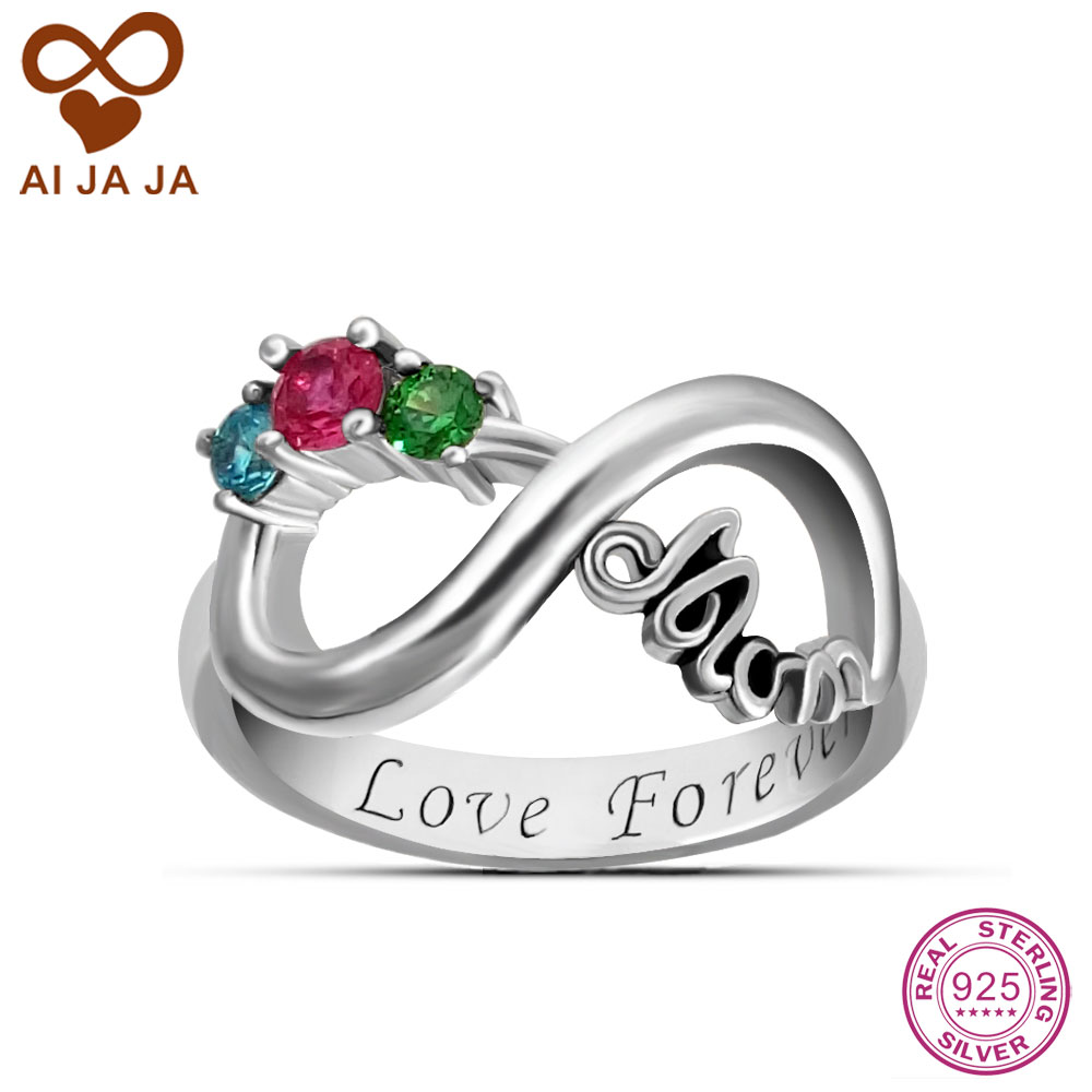 925 sterling silver infinity rings personalized 3 for Infinity ring jewelry store