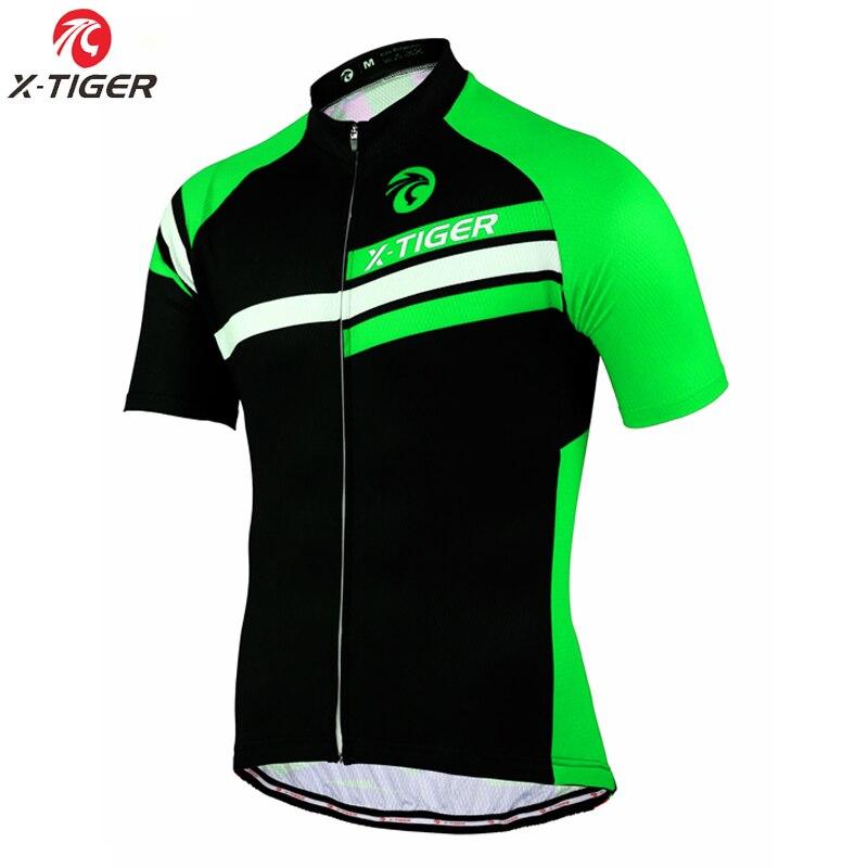 Prix pour X-TIGER Court Cyclisme Manches Jersey Montagne D'été Vélo Vêtements Maillot Ropa Ciclismo 100% Polyester Vélo vêtements De Sport