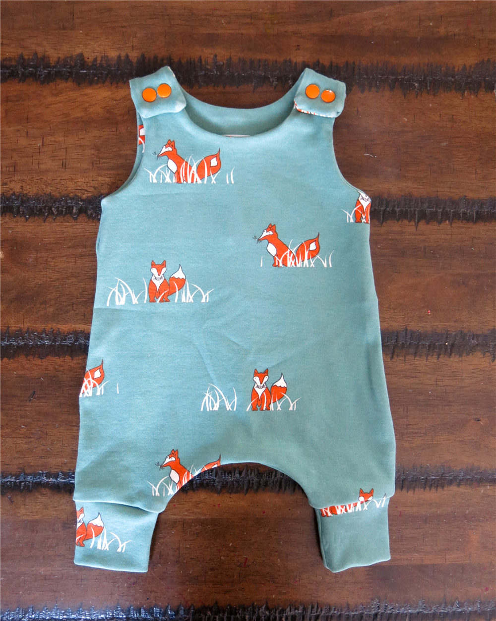 0-24M Newborn Boy Rompers Toddler Girl Cotton Clothing Summer Unisex Jumpsuit Infant Playsuit Cute Fox Cartoon Baby Clothes Blue summer 2017 baby kids girl boy infant summer sleeveless romper harlan jumpsuit clothes outfits 0 24m